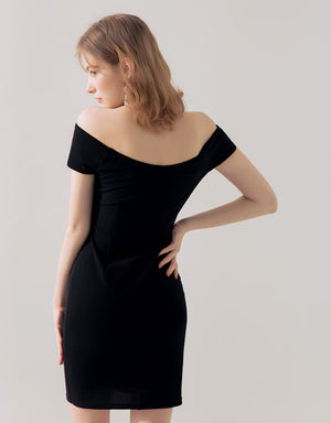 Sexy Knot Off Shoulder Bodycon Dress