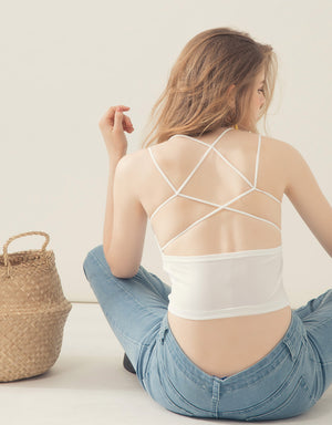 Double Straps Cross Back Camisole
