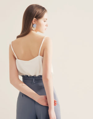 Chiffon Thin Strap Cami Top