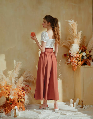 Flowy Maxi Slit Skirt (With Belt)