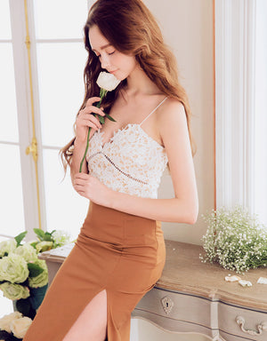Lace Thin Strap Top