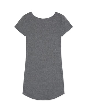 Round Neck Short Sleeve Long T-shirt