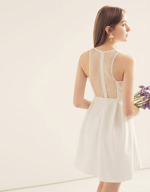 Lace Back Midi Dress