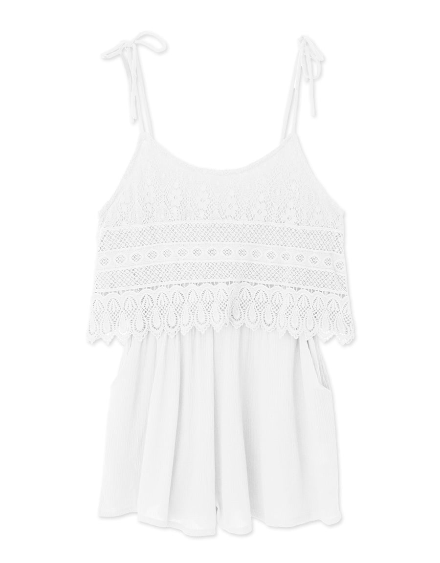 Spaghetti Strap Lace Layer Playsuit