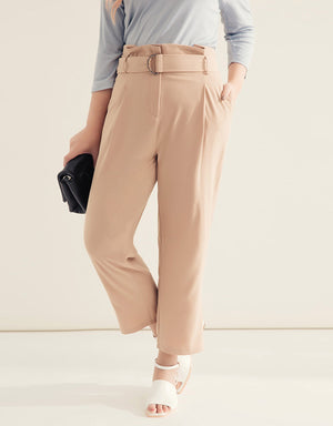 Straight Cut High Waist Pants
