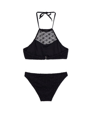 Halterneck Lace Bikini with bra pad