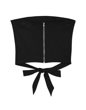 Minimalist Tube Top with Ribbon