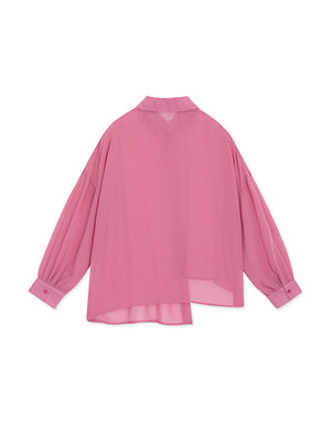 Asymmetrical Dropped Shoulder Long Sleeve Shirt
