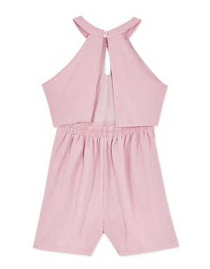 Ruffle Halter Playsuit with Open Back