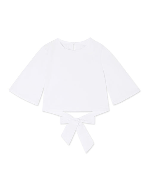 CHIAO Hollow Cross Back 3/4 Sleeve Shirt(KIDS)