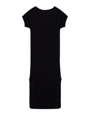 Knitted Split Bodycon Dress