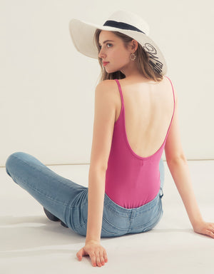 Open Back Cotton One-piece Camisole