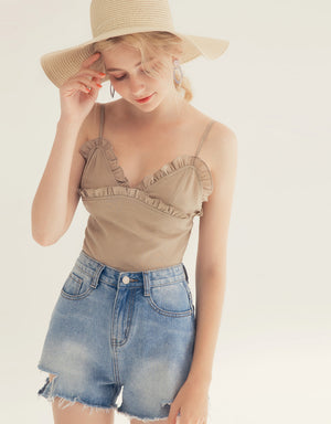 Frilled Bustier Camisole