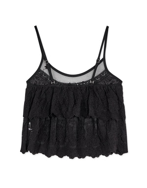Double Layered Lace Jacquard Camisole