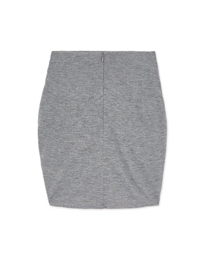 Twisted Front Shirred Mini Skirt