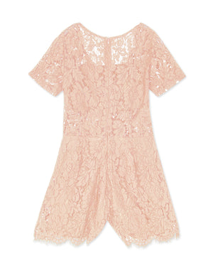 Scallop Eyelash Lace Playsuit with Inner