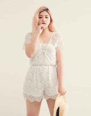 Eyelash Lace Playsuit with Inner