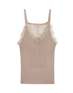 Lace Ribbed Camisole