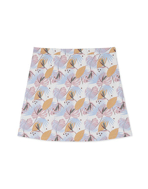 Elegant Leaves Print Mini Skirt