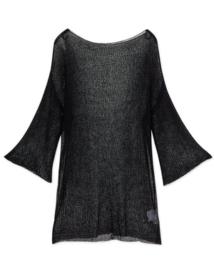 Minimalist Long Sleeve Knitted Tunic Shirt