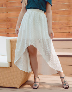 High-low Lace Flare Skirts
