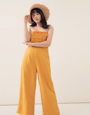 Eyelet Lace Tube Jumpsuit