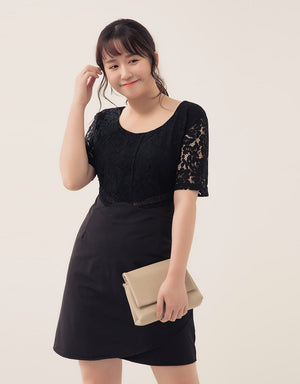 Floral Lace Fit Dress
