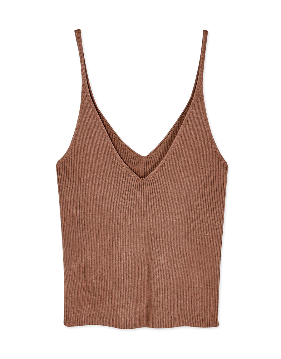 All-match Rib Plunge Camisole