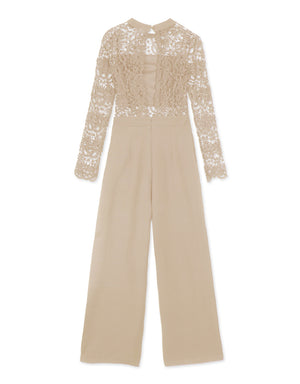 Open Back Lace Jumpsuit with Inner