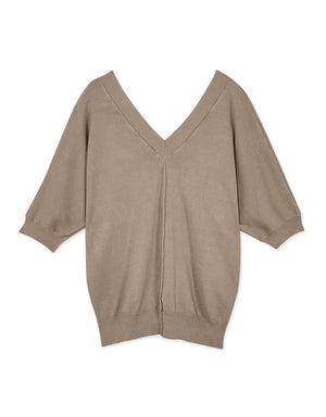 Breathable Half Sleeve Knit Top