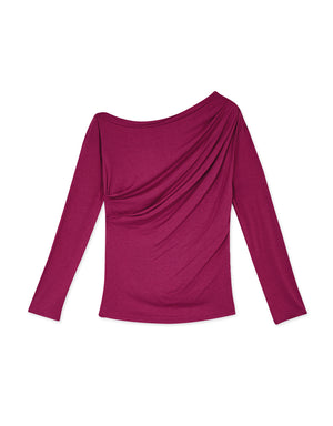 Casual One-shoulder Long Sleeve Top