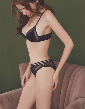 Scallop Hem Round Totem Brief Panty
