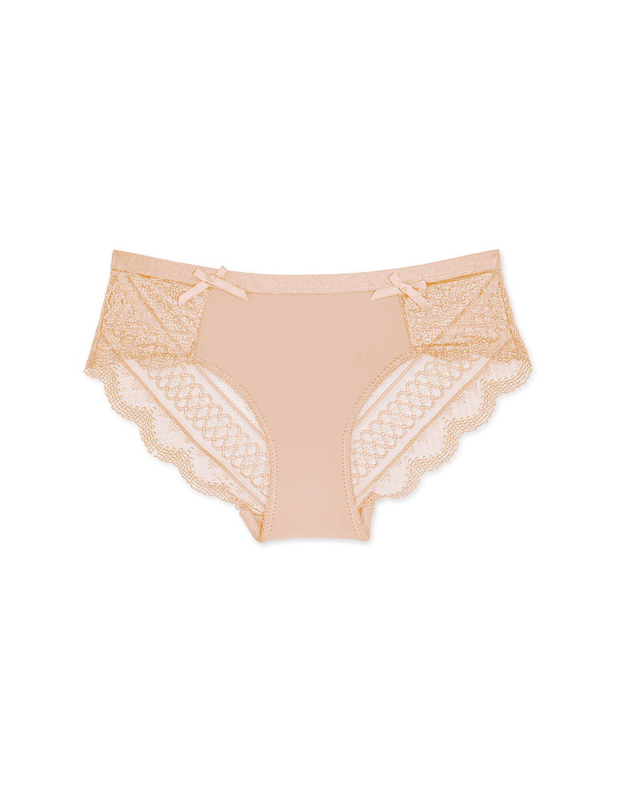 Little Bow Lace  Ice Silk Brief Panty