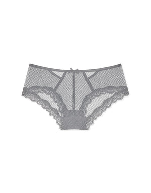 Lace Trim Mesh Brief Panty