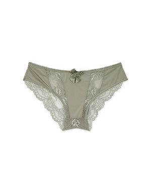 Lace Splice Brief Panty