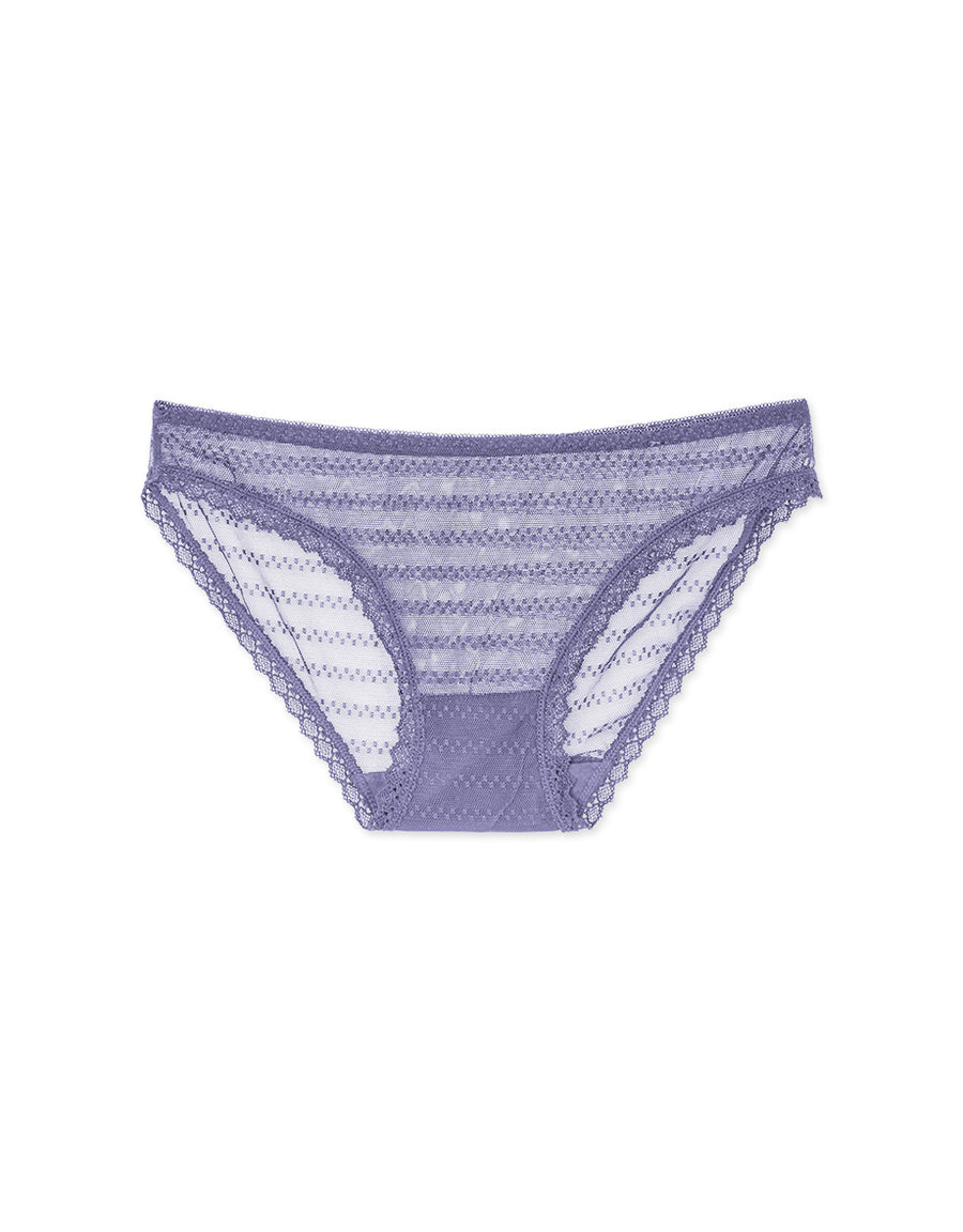 Transparent Bar Striped Bikini Panty