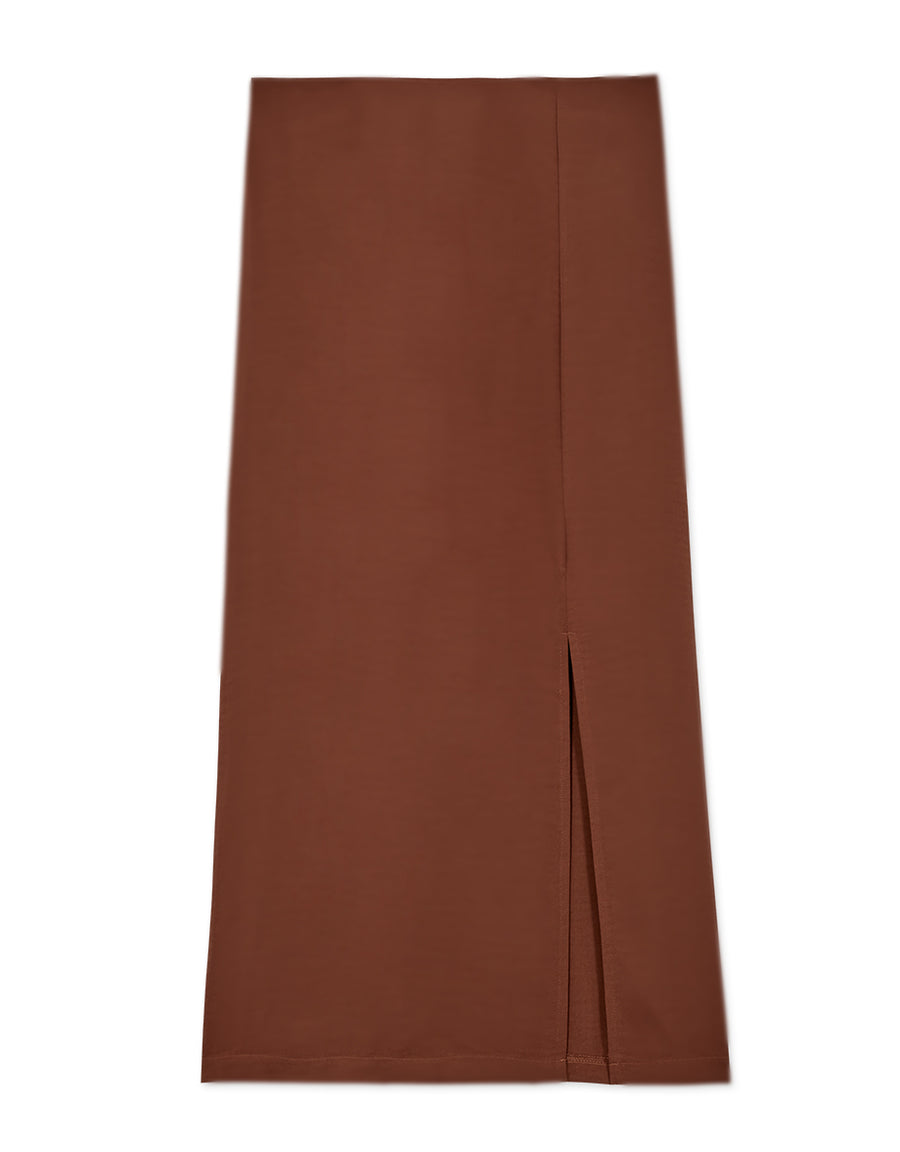 Textured Split Maxi Skirt