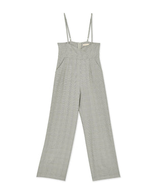 Casual High Waist Plaid Overalls