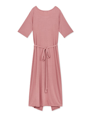 Half Sleeve Cotton Maxi Dress