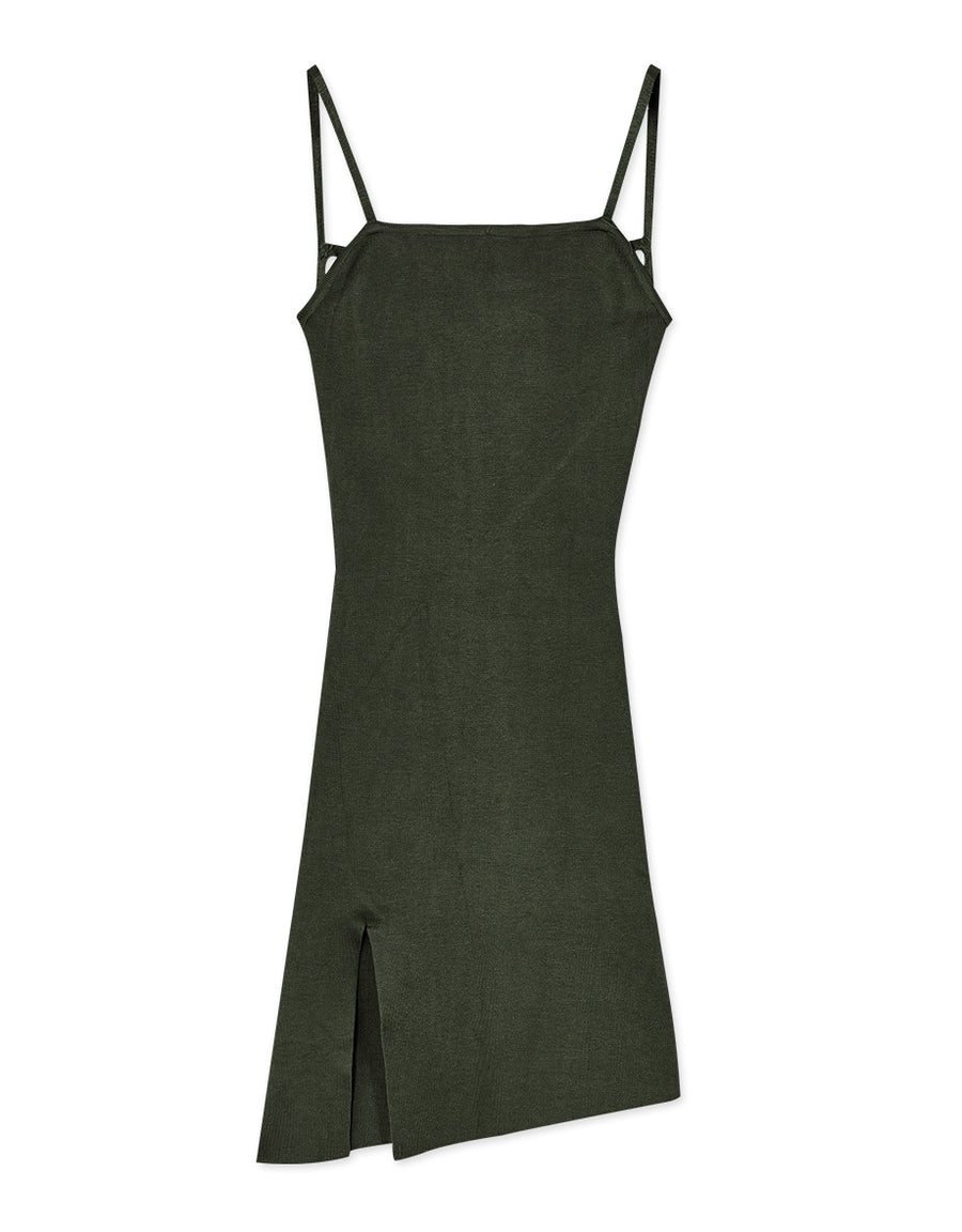 Backless Ribbed Cami Dress