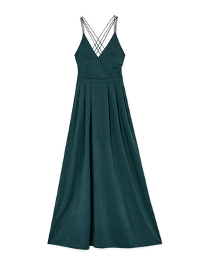 Cross Back Elegant Maxi Dress