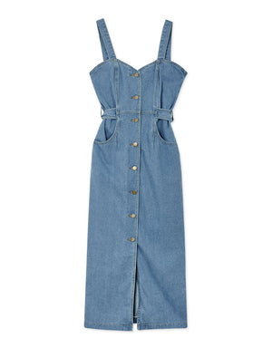 Button Up Denim Fit Dress