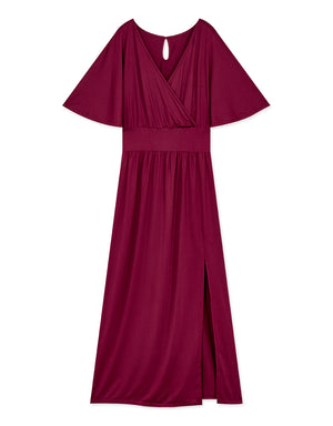Drooping Style Comfy Split Maxi Dress