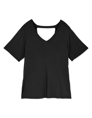 Hollow Back Cotton Top