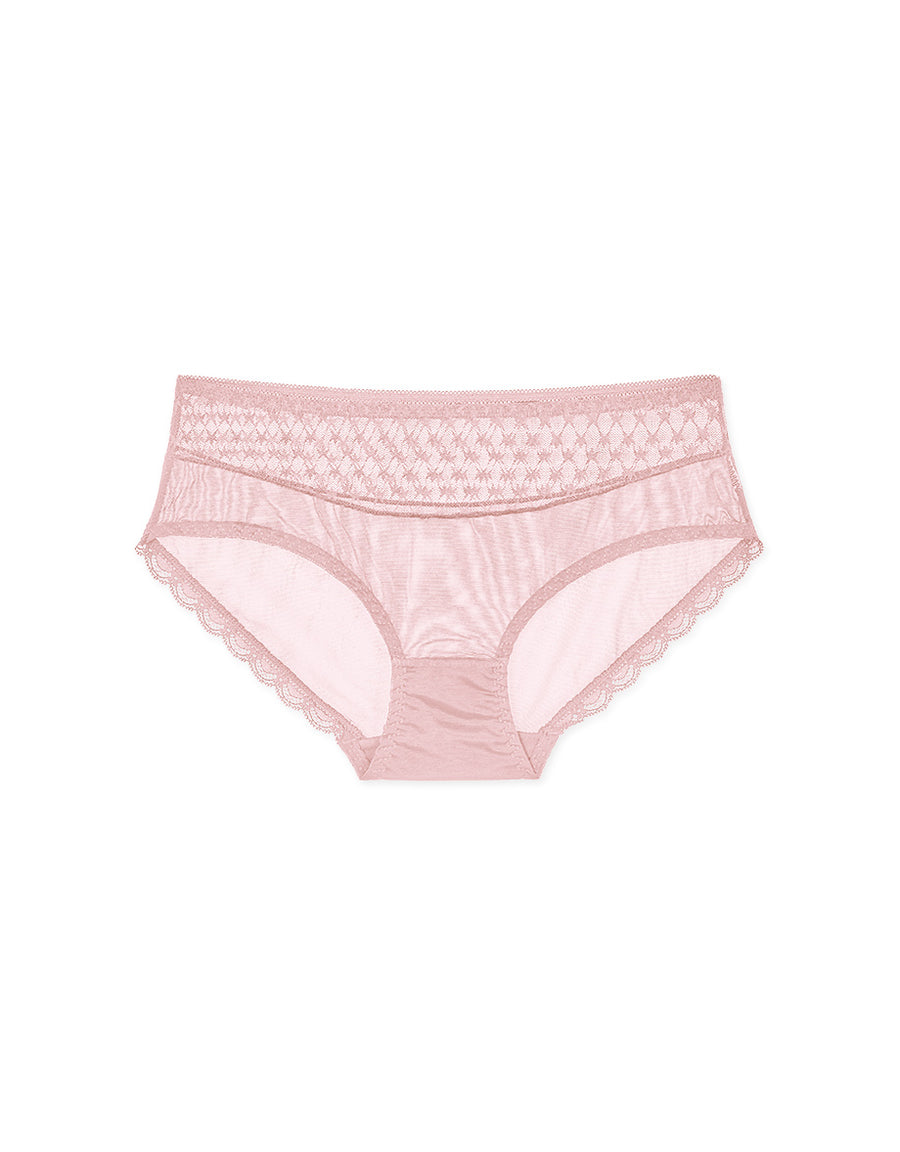 Double Pattern Mesh Brief Panty