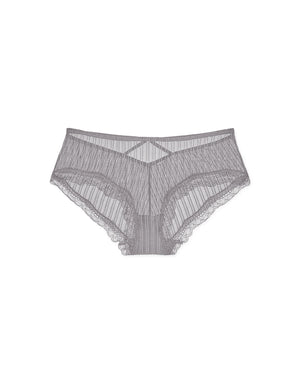 Cross Back Striped Mesh Brief Panty
