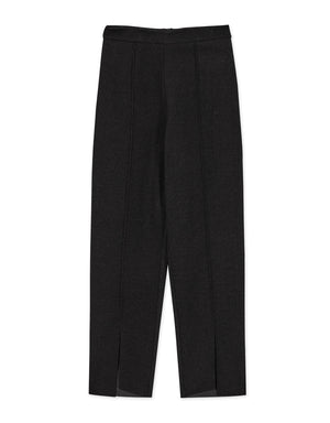 Tailored High-rise Split Pants