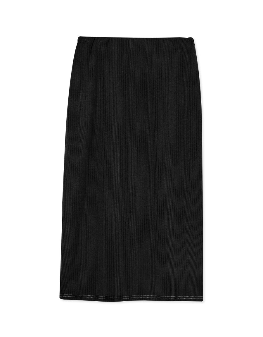 Tailored Split Midi Skirt