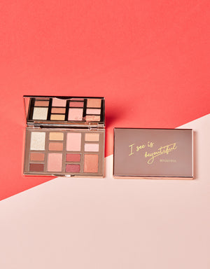 BEYOUTIFUL SEXY PINK LOOK PALETTE WITH LIP LACQUER BUNDLE
