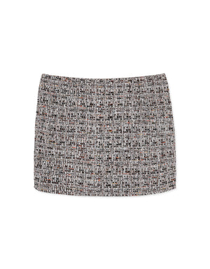 Cotton Linen Plaid Skirt